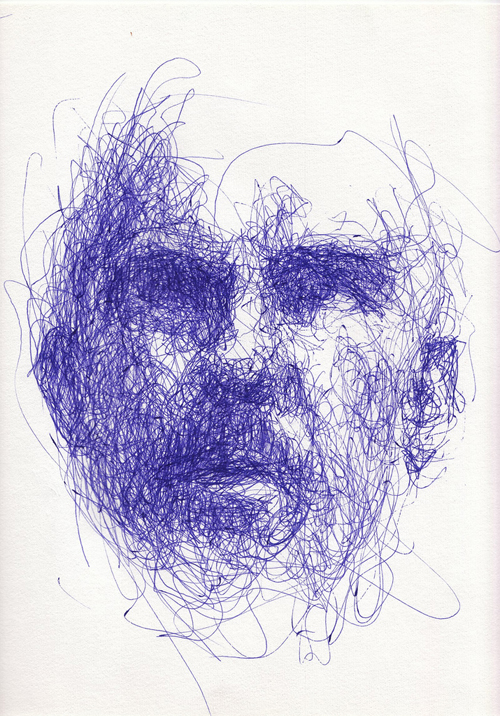 Scribble Drawing Art : � november